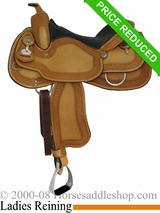 "15.5"" Crates Ladies Tooled Reiner Saddle 4521"