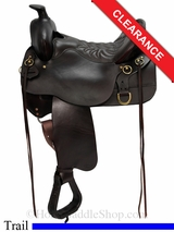 """SOLD 2015/11/04 15.5"""" High Plains Tucker Trail Saddle 260, Wide Tree"""
