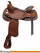 "NO LONGER AVAILABLE 15.5"" to 17"" Crates Classic Reining Saddle 2229"
