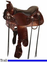 "15.5"" to 18.5"" Tucker Horizon Trail Head Saddle 271 w/Free Pad"