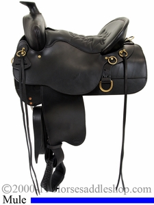 "** SALE **15.5"" to 18.5"" Tucker Mule Trail Saddle 259 *free gift*"