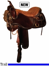 "15.5"" to 18.5"" Tucker Snake River Trail Saddle 253 w/Free Pad"