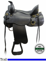 "SOLD 2016/04/02 15.5"" Tucker Gen II High Plains 262 Trail Saddle, Wide Tree, Exclusive ustk3097 *Free Shipping*"