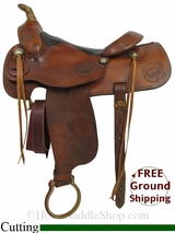"15.5"" Used Big Horn Cutting Saddle, Wide Tree usbi2949 *Free Shipping*"