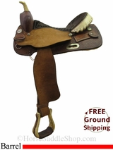 "SOLD 2015/02/24 15.5"" Used Billy Cook Barrel Saddle, Wide Tree usbi2996 *Free Shipping*"