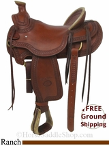 "SOLD 2014/09/29 $1150 15.5"" Used Billy Cook Ranch Saddle, Wide Tree usbi2877 *Free Shipping*"