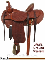 "PRICE REDUCED! 15.5"" Used Billy Cook Ranch Saddle, Wide Tree usbi2910 *Free Shipping*"