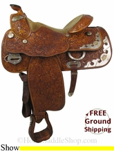 """15.5"""" Used Billy Cook Show Saddle, Wide Tree usbi2834 *Free Shipping*"""