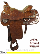 "15.5"" Used Billy Cook Show Saddle, Wide Tree usbi2834 *Free Shipping*"