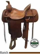 "15.5"" Used Billy Cook Wide Ranch Saddle 2048 usbi3444 *Free Shipping*"