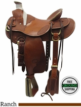 "SOLD 2016/05/17 15.5"" Used Billy Cook Wide Ranch Saddle 2181 usbi3428 *Free Shipping*"
