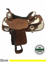 "15.5"" Used Billy Cook Wide Show Saddle 9003 usbi3684 *Free Shipping*"