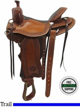 "15.5"" Used Billy Cook Wide Trail Saddle 1737 usbi3501 *Free Shipping*"