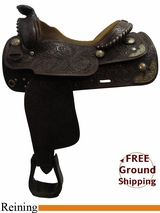 "PRICE REDUCED! 15.5"" Used Champion Turf Reining Saddle, Wide Tree usct3188 *Free Shipping*"