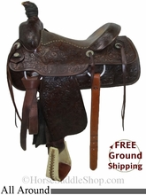 """SOLD 2014/08/06 $650 PRICE REDUCED! 15.5"""" Used Circle Y All Around Saddle uscy2773 *Free Shipping*"""