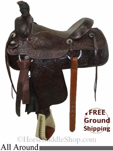 "SOLD 2014/07/11 $699 PRICE REDUCED! 15.5"" Used Circle Y All Around Saddle uscy2773 *Free Shipping*"
