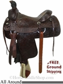 "PRICE REDUCED! 15.5"" Used Circle Y All Around Saddle uscy2773 *Free Shipping*"