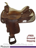 "PRICE REDUCED! 15.5"" Used Circle Y Pleasure Saddle uscy2765 *Free Shipping*"