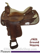 "SOLD 2014/09/18 $771 PRICE REDUCED! 15.5"" Used Circle Y Pleasure Saddle uscy2765 *Free Shipping*"