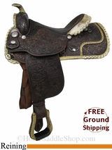 "PRICE REDUCED! 15.5"" Used Circle Y Reining Saddle uscy2840 *Free Shipping*"