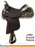 "15.5"" Used Circle Y Reining Saddle uscy2840 *Free Shipping*"