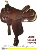 "PRICE REDUCED! 15.5"" Used Circle Y Show Saddle uscy2570 *Free Shipping*"