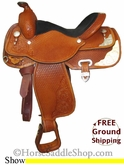 "15.5"" Used Circle Y Show Saddle uscy2610 *Free Shipping*"
