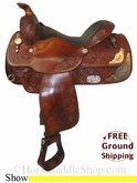 "SOLD 12/2/13 $902.50 PRICE REDUCED! 15.5"" Used Circle Y Show Saddle uscy2652 *Free Shipping*"
