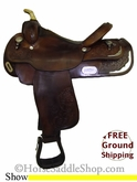 "PRICE REDUCED! 15.5"" Used Circle Y Show Saddle uscy2665 *Free Shipping*"