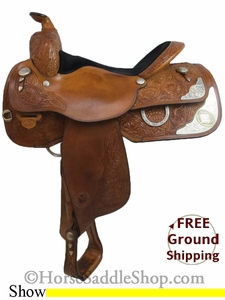 "SOLD 2014/08/04 $900 PRICE REDUCED! 15.5"" Used Circle Y Show Saddle uscy2677 *Free Shipping*"