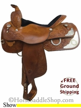 """SOLD 2014/08/04 $900 PRICE REDUCED! 15.5"""" Used Circle Y Show Saddle uscy2677 *Free Shipping*"""