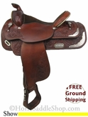 "15.5"" Used Circle Y Show Saddle uscy2740 *Free Shipping*"