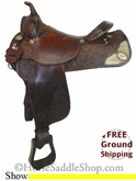 "SOLD 12/10/13 $850 15.5"" Used Circle Y Show Saddle, Wide Tree uscy2680 *Free Shipping*"