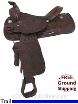"15.5"" Used Circle Y Trail Saddle, Wide Tree uscy2939 *Free Shipping*"