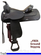 "PRICE REDUCED! 15.5"" Used Circle Y Trail Saddle, Wide Tree uscy2995 *Free Shipping*"