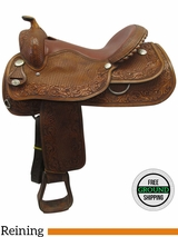 "15.5"" Used Circle Y Wide Reining Saddle 6481 uscy3552 *Free Shipping*"