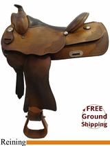 """SOLD 2015/07/22 15.5"""" Used Continental Reining Saddle, Wide Tree uscn3189 *Free Shipping*"""