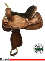 "15.5"" Used Guffy Saddlery Medium Barrel Saddle usgf3621 *Free Shipping*"