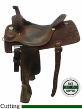 "16"" Used Martin Wide Working Cow Horse Saddle usmr3569 *Free Shipping*"