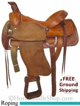 "PRICE REDUCED! 15.5"" Used RH Horton Roping Saddle usrh2739 *Free Shipping*"