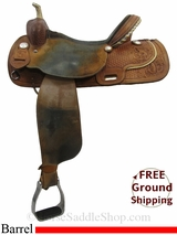 "SOLD 2015/06/23 15.5"" Used RS Saddlery Barrel Racing Saddle, Wide Tree usrs3154 *Free Shipping*"