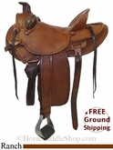 "PRICE REDUCED! 15.5"" Used Saddlesmith of Texas Ranch Saddle usss2778 *Free Shipping*"
