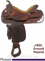 "PRICE REDUCED! 15.5"" Used Tex Tan Pleasure Saddle ustt2953 *Free Shipping*"