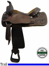 """SOLD 2016/03/30 PRICE REDUCED! 15.5"""" Used Tex Tan Trail Saddle ustt3198 *Free Shipping*"""