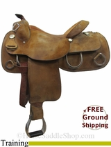 "15.5"" Used Tex Tan Training Saddle ustt3049 *Free Shipping*"