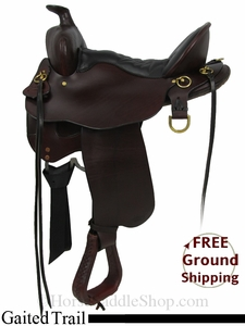 "15.5"" Used Tucker Gaited Trail Saddle, Wide Tree ustk2851 *Free Shipping*"