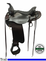 "15.5"" Used Tucker Meadow Creek Trail Saddle 291 ustk3581 *Free Shipping*"