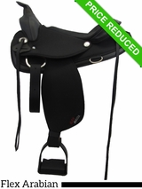 "15"" Abetta Arabian Flex Trail Saddle with Aire Grip 20540FCBK CLEARANCE"