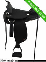 "15"" Abetta Arabian Flex Trail Saddle with Aire Grip 20540FCBK"