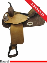 "15"" Alamo Custom Leopard Barrel Saddle 1234 CLEARANCE"